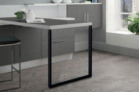 LUISINA - Pied de table rectangulaire télescopique en acier coloris noir H 870 mm