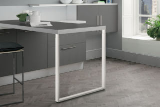 LUISINA - Steeve - Pied de table rectangulaire télescopique en acier coloris blanc H 870 mm