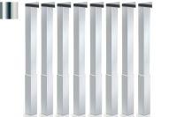 LUISINA - Lot de 8 pieds de table carrés en acier chromé H 820 mm - 60 x 60 mm