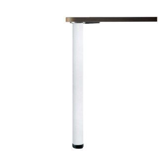 LUISINA - Lot de 8 pieds de table ronds en acier laqué blanc H 700 mm - Ø80 mm