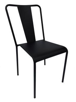 LUISINA - Bonnie - Chaise Bonnie avec assise et piètement métal noir