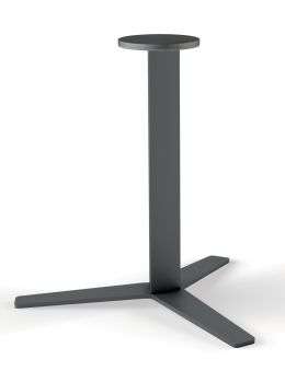 LUISINA - Geny - Pied central Geny en acier graphite H 899 mm et embase hélice