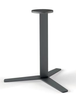 LUISINA - Pied central Geny en acier graphite H 900 mm et embase hélice