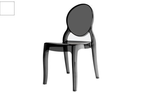 LUISINA - Ixia - Chaise Ixia avec assise et piètement polycarbonate transparent