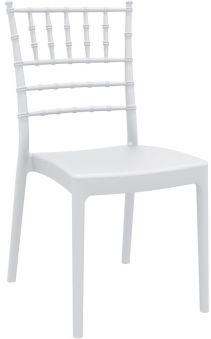 LUISINA - Judy - Chaise Judy avec assise et piètement polycarbonate blanc