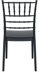 LUISINA - Judy - Chaise Judy avec assise et piètement polycarbonate noir