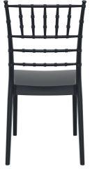 LUISINA - Judy - Chaise avec assise et piètement polycarbonate noir