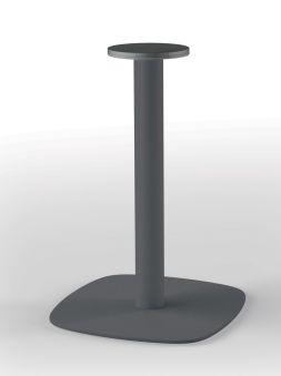 LUISINA - Pied central Geny en acier graphite H 750 mm et embase arrondie
