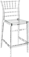 Tabouret Bar - LUISINA - Judy - Tabouret 65 cm avec assise et piètement polycarbonate transparent