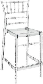 LUISINA - Judy - Tabouret Judy 65 cm avec assise et piètement polycarbonate transparent