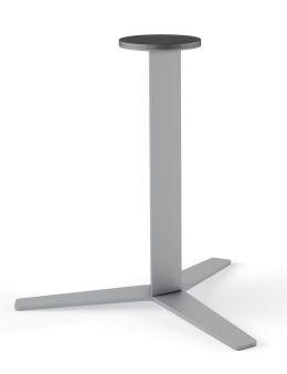 LUISINA - Geny - Pied central Geny en acier alu H 899 mm et embase hélice