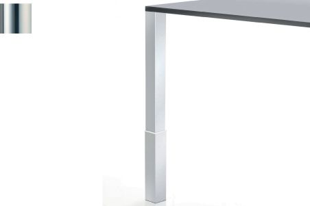 LUISINA - Pied de table carré en acier chromé H 820 mm - 60 x 60 mm
