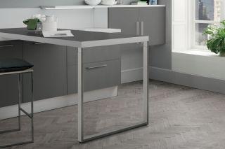LUISINA - Pied de table rectangulaire télescopique en acier chromé H 870 mm