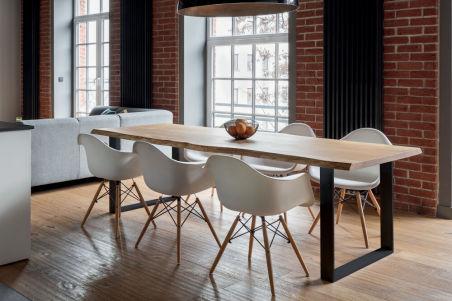 LUISINA - Plato - Structure de table ajustable en acier noir